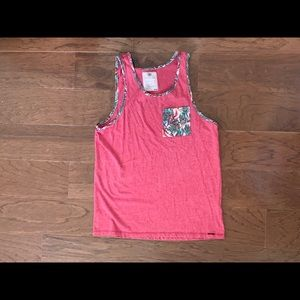 On The Byas Men's Red Tank Top Shirt